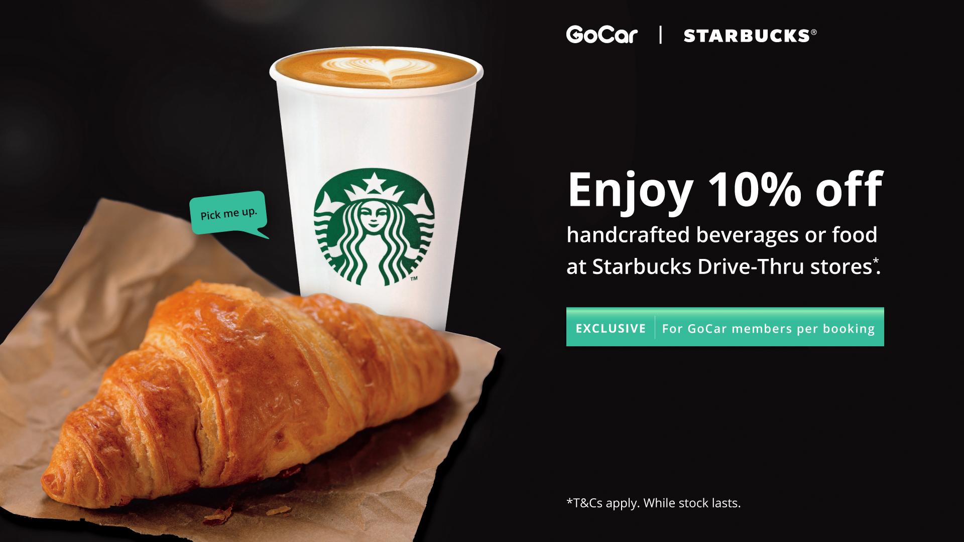 GoCar Starbucks deals
