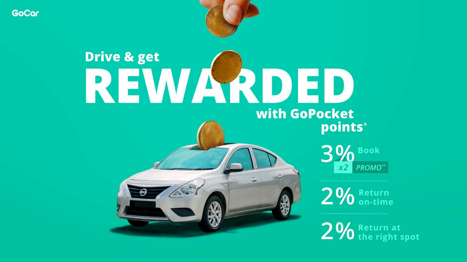 GoCar drive and get rewarded