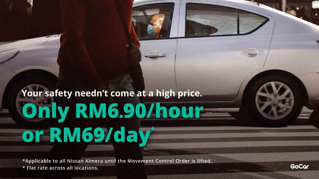 Almera RM69/day RM6.90/hour