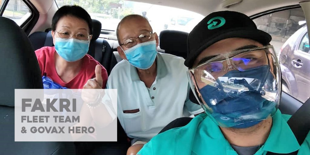 Whenever I drive a senior citizen, I observe and listen to their stories. Some of them are really old but are still steady and have the motivation and sense of civic duty to get vaccinated. This inspires and motivates me to always be humble and assist those who are in need during this trying times