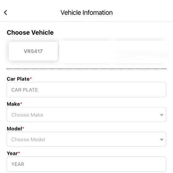 STEP 5: Complete vehicle details